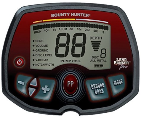 Bounty Hunter Land Ranger Pro display