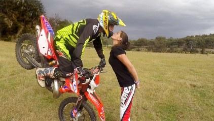 enduro dirt bike teen kiss