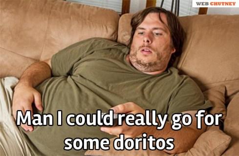 eating doritos late at night