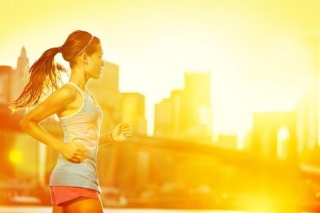 morning workout girl