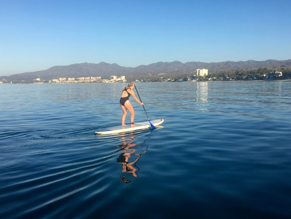 Paddle Boarder on Bucerias Beach Mexico
