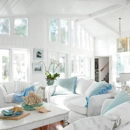 Beachy Living Room Big On Wall Decor: Shabby Chic Beach Decor Ideas For Your Beach Cottage
