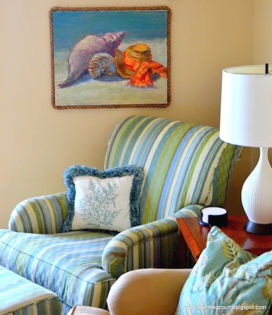 Colorful Beach Condo Makeover: A Blue & Orange Decorated Beach Condo Is Decked Out For