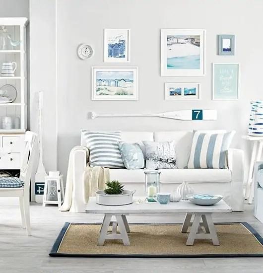 Beach Themed Living Room Beachy Modern Home Roommodern