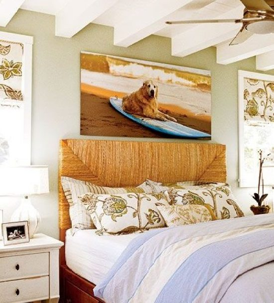 Awesome Above The Bed Beach Themed Decor Ideas