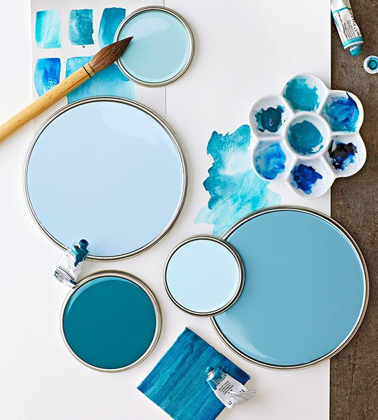 Paint color schemes inspired from beach colors beach for Ocean blue color combinations