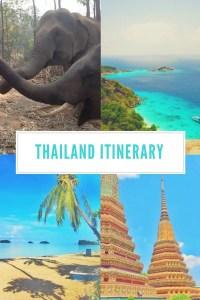 Thailand itinerary 1 week