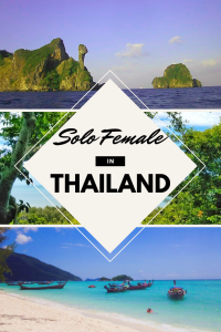 Pinterest Graphic for travelling Thailand solo as a female traveller