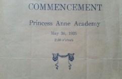 Princess Anne Academy Commencement