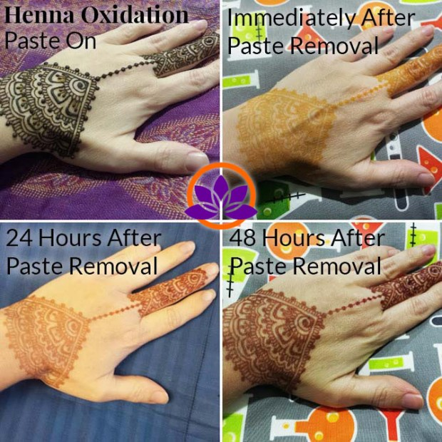 Henna aftercare is important to the life of a henna stain color