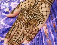 Modern Indian henna styles