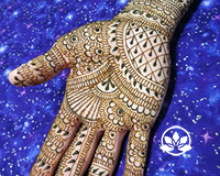 Classic Indian style henna design