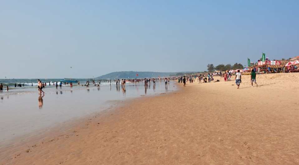 Calangute the best beaches in Goa for water sport