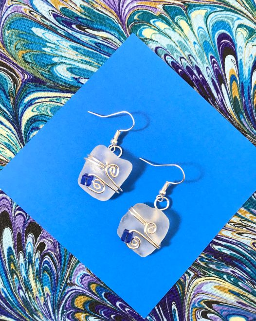 Frosted Clear Earrings