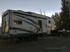 5th wheel boondocking in Irrigon, Oregon