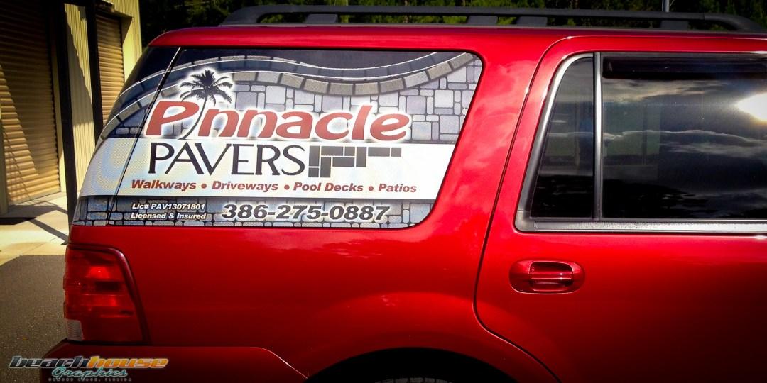 Orlando - Jacksonville - Window Sticker - See through window ad - vinyl window - glass sticker - Car Advertising-2