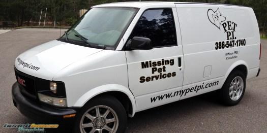 Full size van lettering, decals, graphics