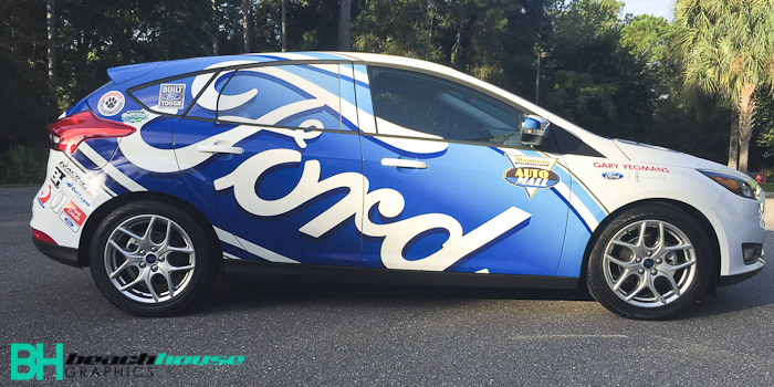 Race car inspired ford focus custom wrap