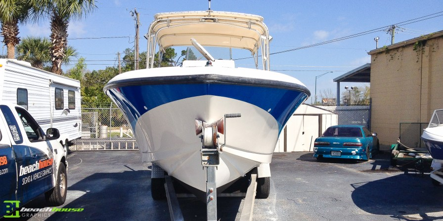 Bow View of Boat Wrap - Daytona Beach