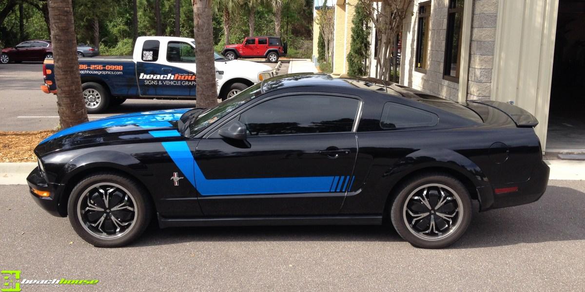 Custom Mustang Accents Custom Vehicle Wraps