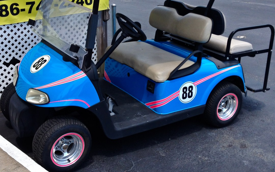 Mustang Race Car – Matching Golf Cart
