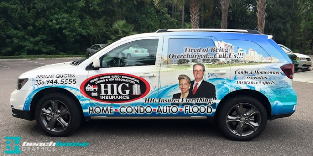 New Smyrna Beach Vehicle Wraps, Custom Wraps, Graphics and Large Format Printed Adveritsment