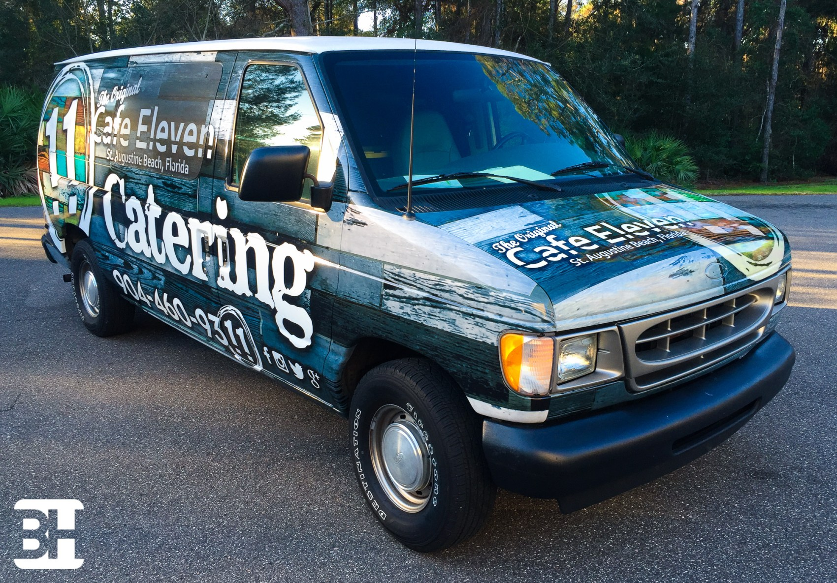 Food service vehicle wrap, graphics, van wraps, truck