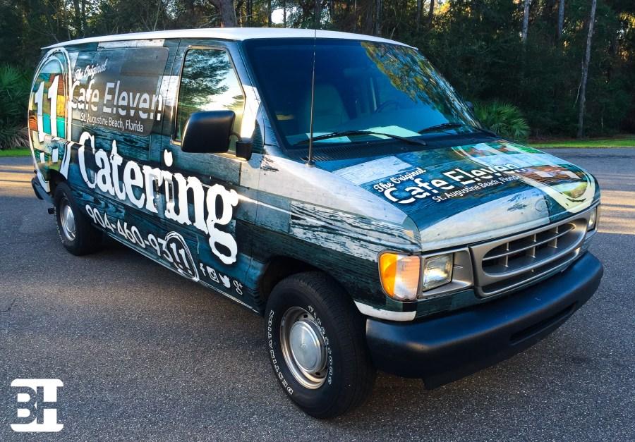 Food service vehicle wrap, graphics, van wraps, truck