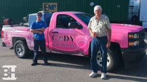 Breast Cancer Awareness vehicle wrap in Ormond Beach, Daytona and New Smyrna Beach