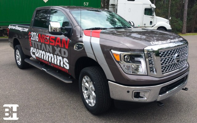 Nissan Titan XD Cummins vinyl lettering graphics