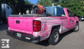 Full Wrap on a Chevy Silverado Truck with Custom Graphics