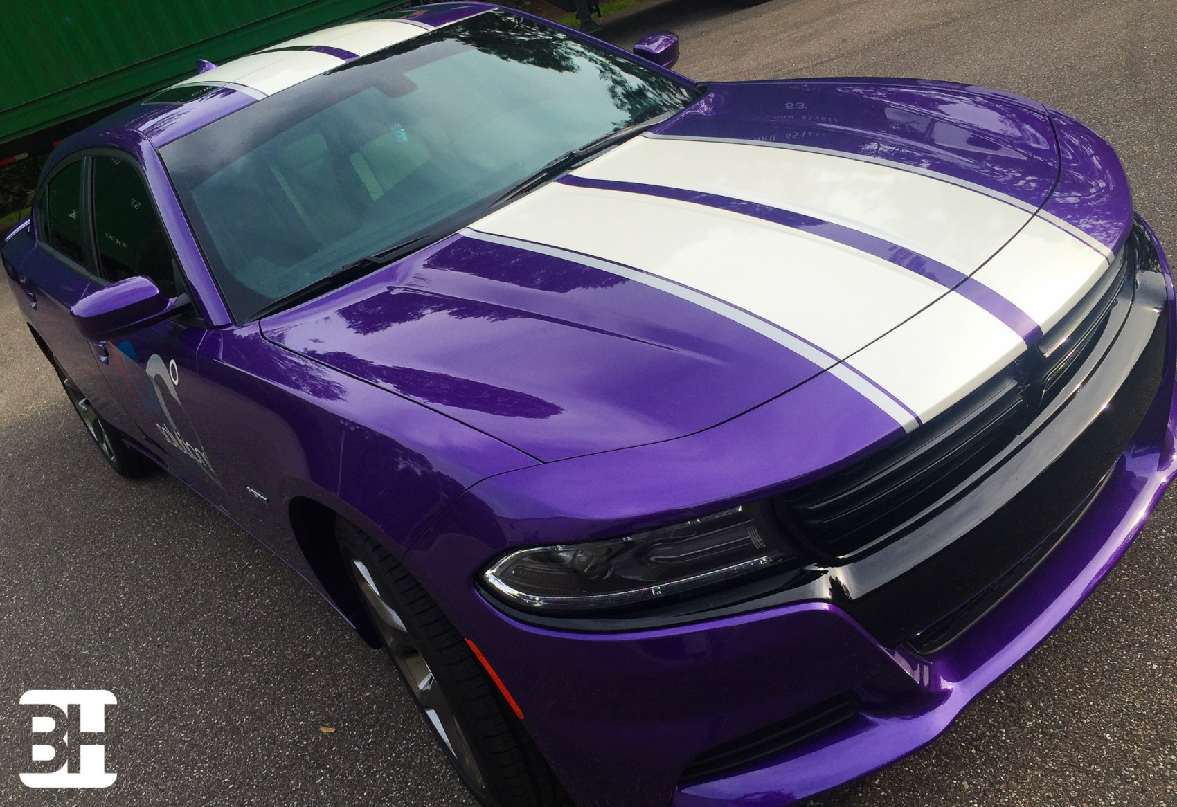 Hood Stripes on Dodge Chargers, Challengers and Corvettes