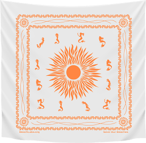 BeachLabs.org Salt Bandana with Sun Detail