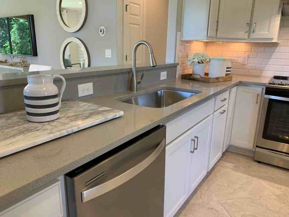 Gray Neutral Kitchen - Beach House Kitchens - Coastal Neutral Design Ponte Vedra Florida Kitchen