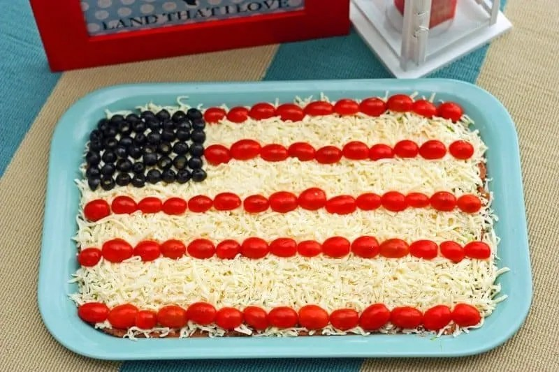 4th of July Appetizers - Patriotic Party Dip