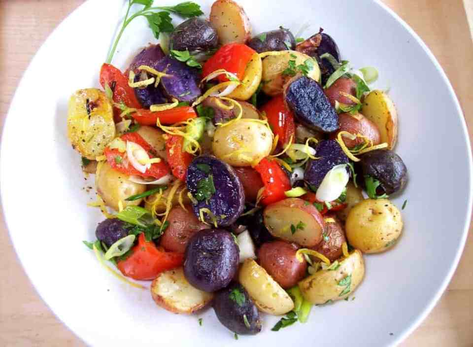4th of July Appetizers - Red, White and Blue Potato Salad