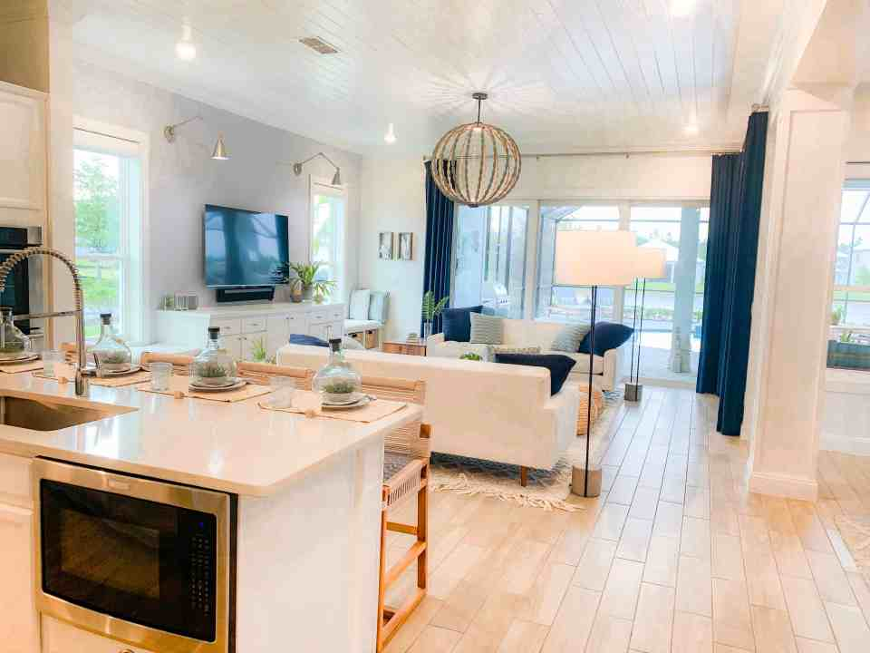 Beach Walk House Tour - Coastal Chic Design and Decor Ideas - Exterior - White Kitchen