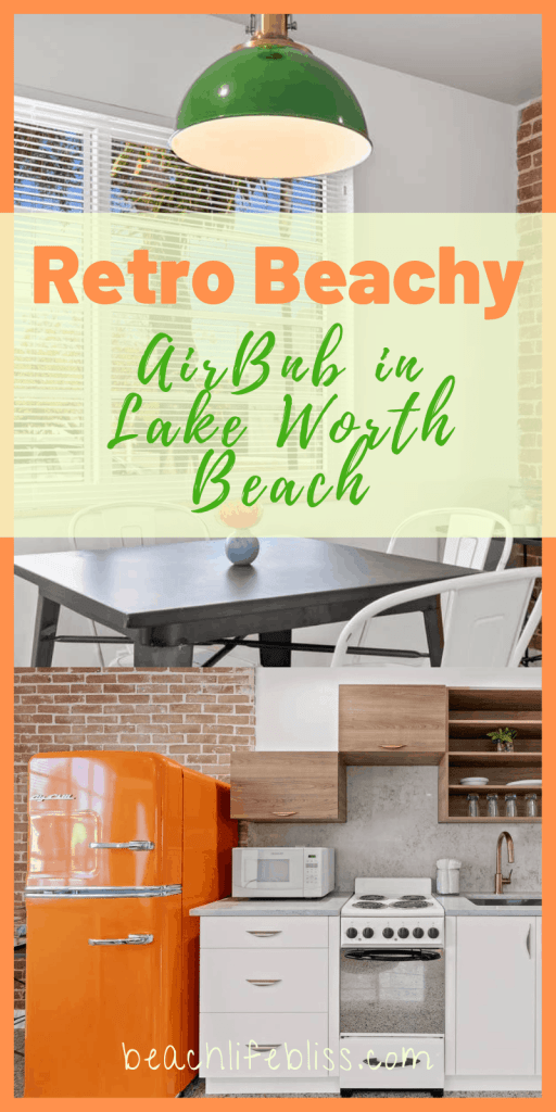 Orange Blossom Villa - Lake Worth Beach Airbnb Vacation Rental - Retro Beachy Design