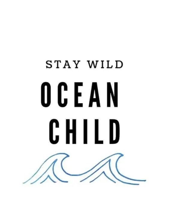 Beach life quotes - stay wild ocean child