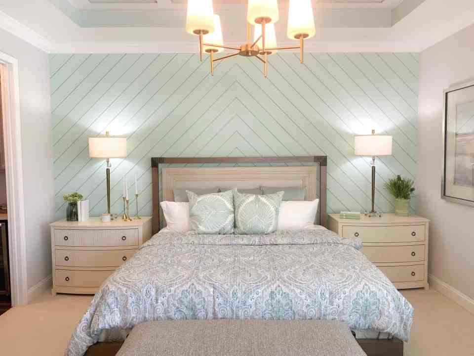 Bedroom Tour- Seafoam Green Airy Bedroom Design