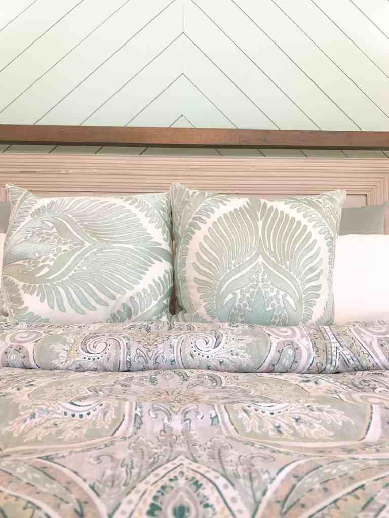 Paisley bedding quilt  - Seafoam Green Airy Bedroom Design