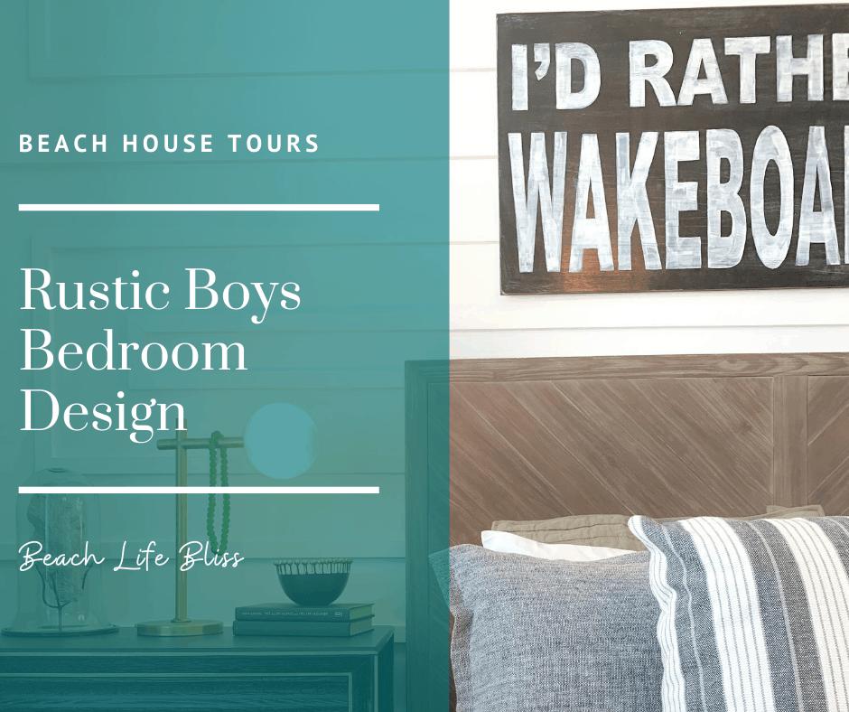 Rustic Boys Bedroom and Loft Design - Beach House Tour