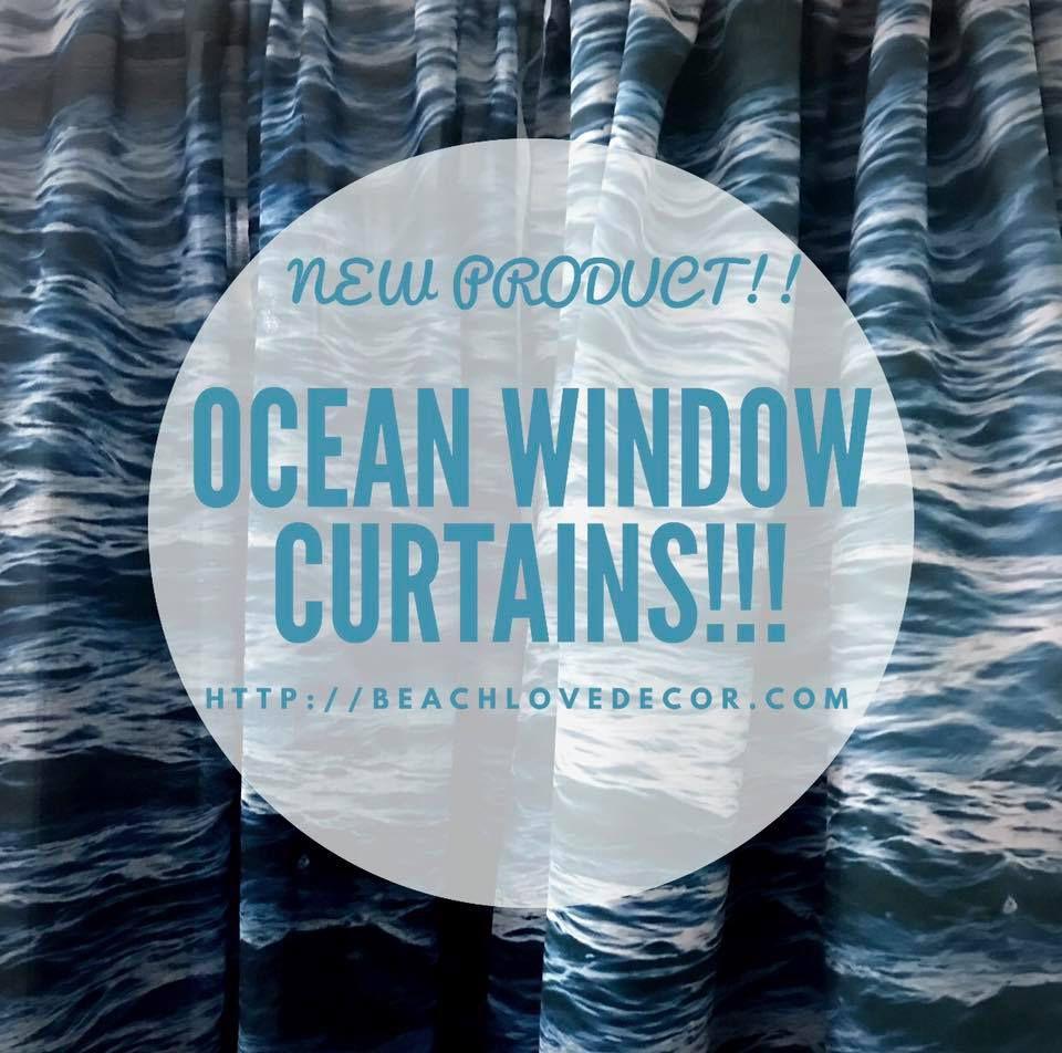 Green Palm Leaves Window Curtain Blackout Curtain Sheer Curtain Nautical Curtain Beach