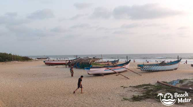 Colorful boats on Vaddy Beach in Goa