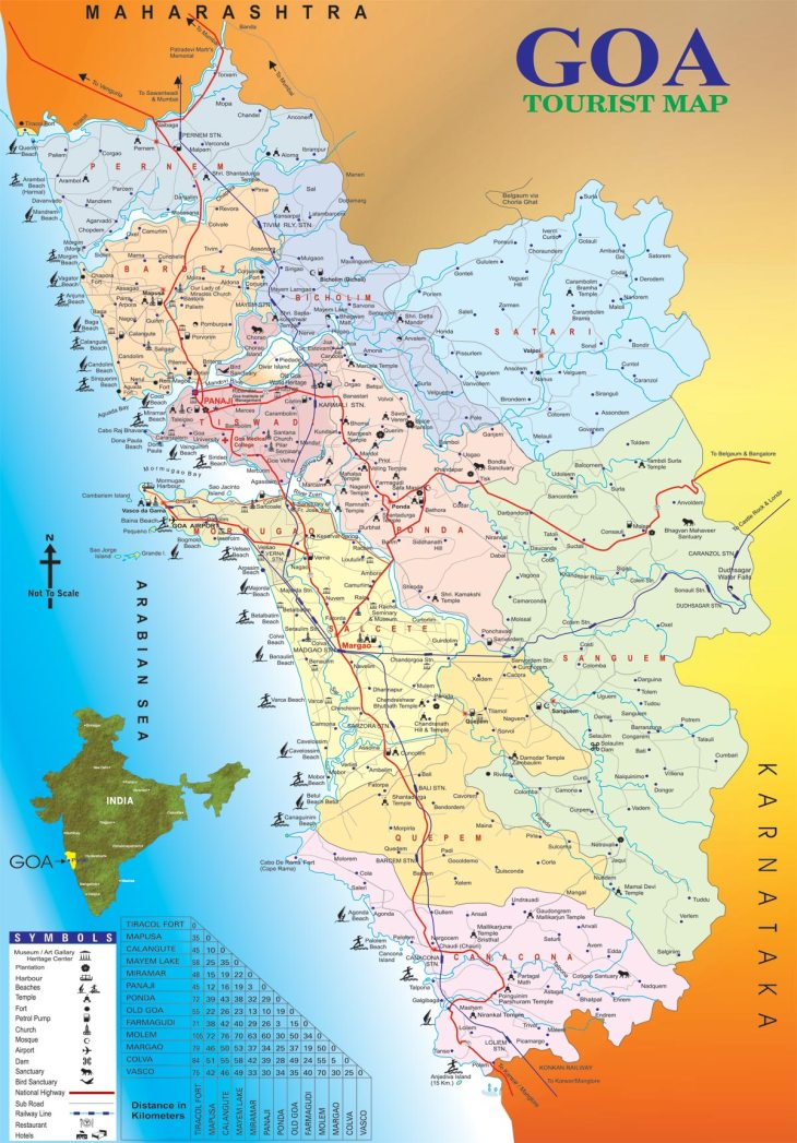 Detailed Map of Goa's Beaches