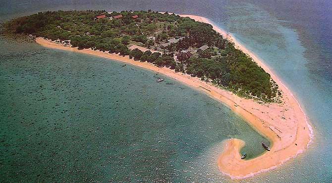 Selingan Turtle Island (Pulau Selingan) aerial view