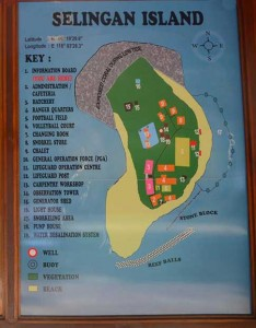 Selingan Turtle Island Map