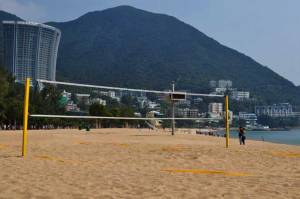 Beach Volleyball Court at Repulse Bay, Hong Kong