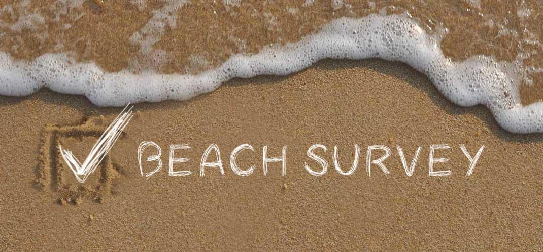 Beachmeter Beach Survey with tickboxes