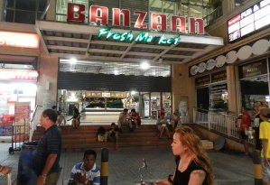 Entrance to Banzaan Fresh Market